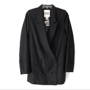 BB Dakota Double Breasted Blazer Black NEW